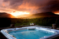 Sunset over Hot Tub